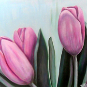 Honey_tulips_card