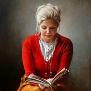 Portrait_woman_reading_card
