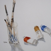 Brushes_and_paint___14_x_18__oil_card