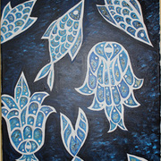 Fish_and_chamsa_bleu_oil_paints_2012_24x18_card
