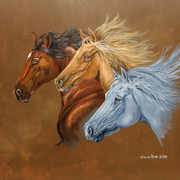 Three_horses_running_card