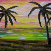 Sunset_palms_card