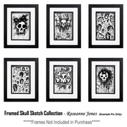 Framedskullsketchcollection_card