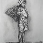Antonio_cayanan-ifugao_girl_4_july_21__2012_9_x_12_inches_charcoal_on_paper_card