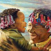 Khoisan_mother_and_child_card