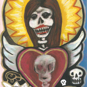Painting_print_heart_skull_queen2_card