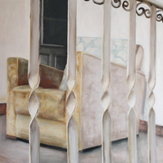 Behind_railings__80x100__oil_on_canvas_card