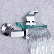 New_arrival_single_handle_glass_waterfall_cold_and_hot_shower_faucet_card