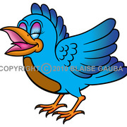 Little_bird_blue_graphic_image_copyright_2010_blaise_gauba__card