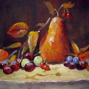 Study_3_pear_and_grapes_2001_card