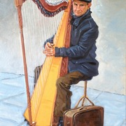 Paris_harp_player_card