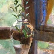 Glass_vase_on_round_table__36_x_17_inches__oil_on_linen_card