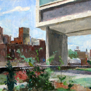 The_high_line__near_the_standard__17_x_34_inches__oil_on_linen_card