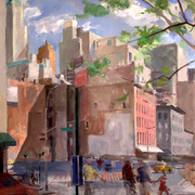 West_bway_and_chambers__30_x_26_inches__oil_on_linen_card