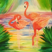 Flamingos_card