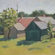 Lithuanian_barns_50x60cm_oil_card