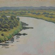 View_over_memel-river_50x50cm_oil_card