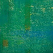 Ashok_gulati__title_-_shoal_in_green_-_vii__size_-_48__x44____year_-_2008__medium_-_oil_on_canvas_card