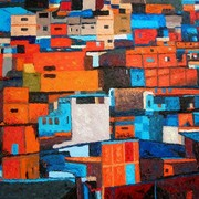 Tramonto_sulle_favelas__anche_la_povert_ha_i_suoi_colori-_olio_su_tela60x80_tecnica_a_spatola_card