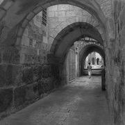 Arches__old_jerusalem_b-w_card