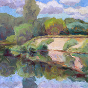 The_cloudy_river_study_card