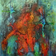 Elephant_on_ice_acryl_materialbild_kunstharz_oelkreide_130_x_110_cm_29082008_card