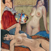 A_homage_to_amadeo_modigliani_card
