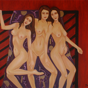 2008_28x32_three_nudes_vamping_for_the_camera_card