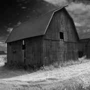 Red_barn_complex_b-w_card