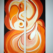 Peaches__acryllic_on_canvas__2_pieces__120cmx80cm_leyla_murr_card