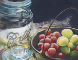 Ball Jar With Grapes by Carol Gunn