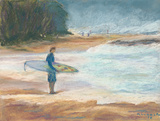 Contemplating the Big Surf, Pipeline, Oahu by Rosemary Lucente
