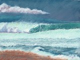 Storm Sky Big Surf, Pipeline, Oahu by Rosemary Lucente