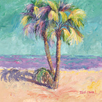 Palm Trees Against Turquoise Sky by Blossoming Stillness by Ruth Moses