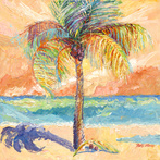 Palm Tree Against Brilliant Sky by Blossoming Stillness by Ruth Moses