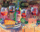 Diamond Creek Tasting by Fine Wine Paintings by Ruth Moses
