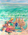 Sandcastle Sisters by Blossoming Stillness by Ruth Moses