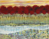 Red Trees on Water by Sima Amid Wewetzer
