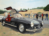 Mercedes Gullwing by James E Caldwell III