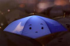 Parapluie-bleu