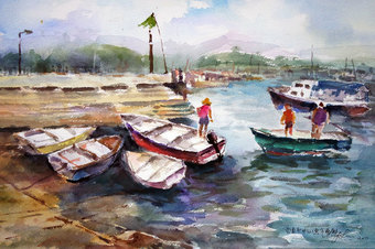 Sai Kung - Fish Boats & Sampans