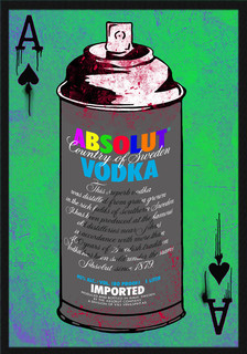 Absolut Vodka Spray Can