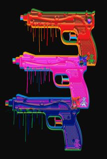 Pop art Water Toy Gun