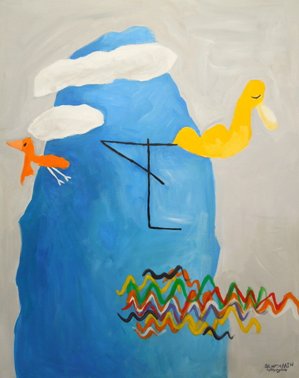 Blue mountain birds