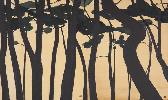 A pine grove.