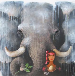 Lady & Elephant