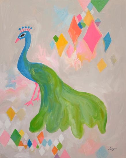 Diamond peacock