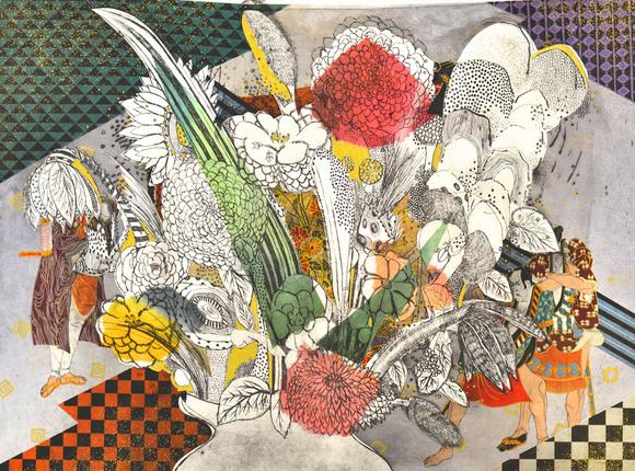 Flowers in a Vase (Kabuki)