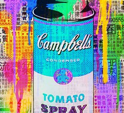 Campbell Spray Can on old news paper