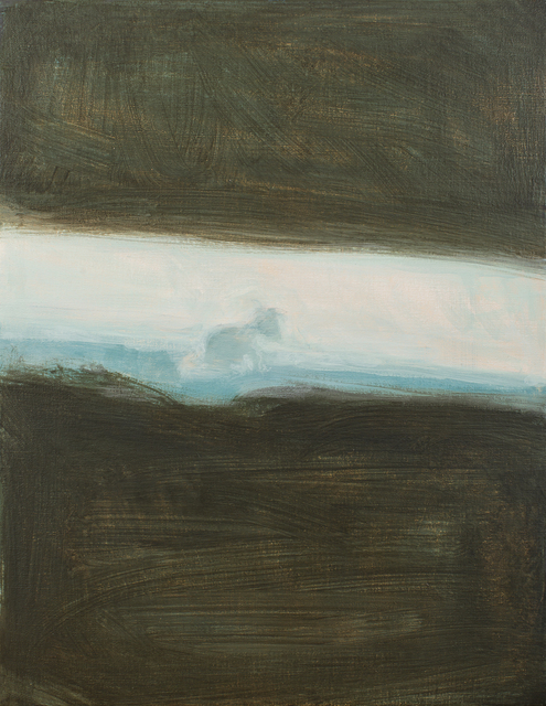 Dog On And a Dark Pool 2017 48,5 cm x 38 cm Oil on Canvas